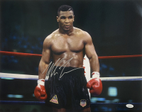 Mike Tyson Signed 16x20 Photo (JSA COA) at PristineAuction.com