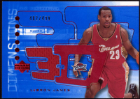 LeBron James 2003-04 Upper Deck Triple Dimensions 3-D Shooting Shirts RC #S13 at PristineAuction.com
