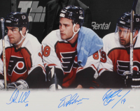 Eric Lindros, Mikael Renberg, & John LeClair Signed Flyers 16x20 Photo (JSA COA) at PristineAuction.com