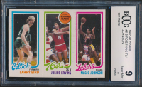 Larry Bird / 174 Julius Erving TL / 139 Magic Johnson 1980-81 Topps #6 34 RC (BCCG 9) at PristineAuction.com