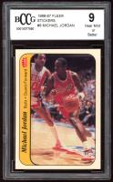 Michael Jordan 1986-87 Fleer Stickers #8 (BCCG 9) at PristineAuction.com