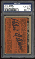 Hank Aaron Signed 1972 Topps #300 IA (PSA Encapsulated) at PristineAuction.com