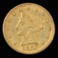 1850 $2.50 Liberty Head Gold Coin at PristineAuction.com