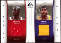 Michael Jordan & Magic Johnson 2006-07 SP Authentic Fabrics Dual #MM at PristineAuction.com