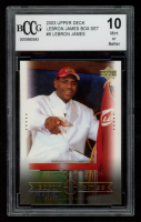 LeBron James 2003 Upper Deck LeBron James Box Set #8 / The Cavs Get Their Man (BCCG 10) at PristineAuction.com