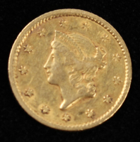 1849 $1 Dollar Gold Coin at PristineAuction.com
