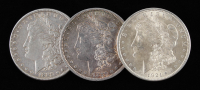 Lot of (3) Morgan Silver Dollars with 1880, 1885, & 1921 at PristineAuction.com