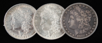 Lot of (3) Morgan Silver Dollars with 1882-S, 1888, & 1921 at PristineAuction.com