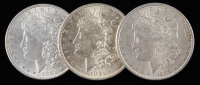 Lot of (3) Morgan Silver Dollars with 1882, 1889, & 1921 at PristineAuction.com