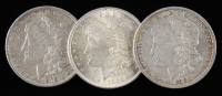 Lot of (3) Morgan Silver Dollars with 1879, 1880, & 1921 at PristineAuction.com