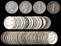 Lot of (50) Mercury Silver Dimes at PristineAuction.com