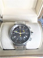 Louis Vuitton Tambour Chronograph Wristwatch with Box & Papers at PristineAuction.com