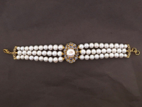 White Pearl & 4.00ct Tanzanite Bracelet (GAL Certified) at PristineAuction.com