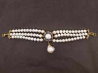 White Pearl & 2.00ct Tanzanite Bracelet (GAL Certified) at PristineAuction.com
