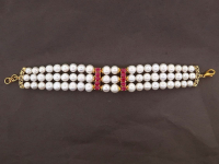 White Pearl & 4.00ct Ruby Bracelet (GAL Certified) at PristineAuction.com