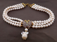 White Pearl & 4.60ct Tanzanite & Blue Topaz Necklace (GAL Certified) at PristineAuction.com