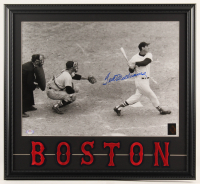 "Ted Williams Signed Red Sox ""Last Home Run"" 20.5x22.5 Custom Framed Photo Display with Boston Red Sox Jersey Patch Set (PSA LOA & Ted Williams Hologram) at PristineAuction.com"