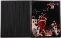 Michael Jordan Signed Bulls 8x10 Photo with Black Leather Case (UDA COA) at PristineAuction.com