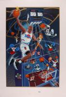"Michael Jordan Signed LE 1996 ""Space Jam"" 27x39.5 Poster (UDA Hologram) at PristineAuction.com"