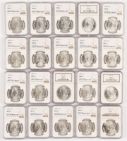 Lot of (20) NGC Graded MS63 1883-1904 Morgan Silver Dollars at PristineAuction.com