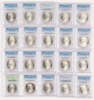 Lot of (20) PCGS Graded MS63 1881-S Morgan Silver Dollars at PristineAuction.com