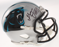 Thomas Davis Sr. Signed Panthers Speed Mini Helmet (JSA COA) at PristineAuction.com