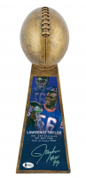 "Lawrence Taylor Signed 15"" Football Championship Trophy Inscribed ""HOF 99 "" (Beckett COA) at PristineAuction.com"