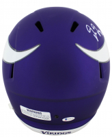 Justin Jefferson Signed Vikings Full-Size Speed Helmet (Beckett COA) at PristineAuction.com