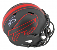 Stefon Diggs Signed Bills Full Size Eclipse Alternate Speed Helmet (Beckett COA) at PristineAuction.com