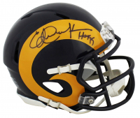 "Eric Dickerson Signed Rams Speed Mini Helmet Inscribed ""HOF 99"" (Beckett COA) at PristineAuction.com"