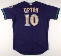Justin Upton Signed Game-Used Diamondbacks Jersey (MLB Hologram) at PristineAuction.com