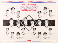 1988 Team USA Olympic Baseball 23x28 Lithograph Team-Signed by (20) with Tino Martinez, Jim Abbott, Robin Ventura, Bret Barberie (SOP LOA) (See Description) at PristineAuction.com