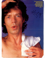 Mick Jagger Signed Magazine Page (JSA LOA) at PristineAuction.com