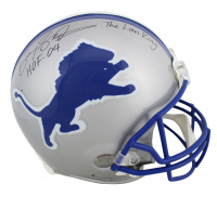 "Barry Sanders Signed Lions Full-Size Authentic On-Field Helmet Inscribed ""HOF 04"" & ""The Lion King"" (Beckett COA) at PristineAuction.com"
