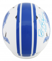 "Barry Sanders Signed Lions Full-Size Authentic On-Field Matte White Speed Helmet Inscribed ""HOF 04"" & ""The Lion King"" (Beckett COA) at PristineAuction.com"