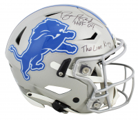 "Barry Sanders Signed Lions Full-Size Authentic On-Field Speedflex Helmet Inscribed ""HOF 04"" & ""The Lion King"" (Beckett COA) at PristineAuction.com"