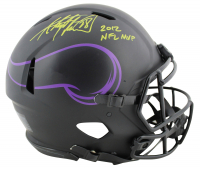 "Adrian Peterson Signed Vikings Full-Size Authentic On-Field Eclipse Alternate Speed Helmet Inscribed ""2012 NFL MVP"" (Beckett COA) at PristineAuction.com"