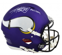 """Adrian Peterson Signed Vikings Full-Size Authentic On-Field Speed Helmet Inscribed """"All Day"""" (Beckett COA) at PristineAuction.com"""