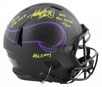 """Adrian Peterson Signed Vikings Eclipse Alternate Speed Full-Size Authentic On-Field Helmet Inscribed """"2012 NFL MVP"""", """"2010 All Decade Team"""" & """"All Day"""" (Beckett COA) at PristineAuction.com"""