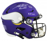 """Adrian Peterson Signed Vikings SpeedFlex Full-Size Authentic On-Field Helmet Inscribed """"All Day"""", """"ROY 2007"""" & """"2012 MVP"""" (Beckett COA) at PristineAuction.com"""