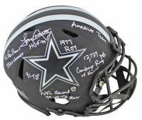 Tony Dorsett Signed Cowboys Eclipse Alternate Speed Full-Size Authentic On-Field Helmet With Multiple Career Stat Inscriptions (Beckett COA) at PristineAuction.com