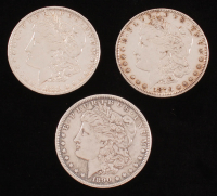 Lot of (3) Morgan Silver Dollars with 1879, 1889 & 1890 at PristineAuction.com