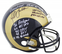 Marshall Faulk Signed Rams Full-Size Authentic On-Field Helmet with (9) Career Stat Inscriptions (Beckett COA) at PristineAuction.com