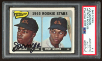 Joe Morgan Signed 1965 Topps #16 Rookie Stars Joe Morgan RC / Sonny Jackson RC DP (PSA Encapsulated) at PristineAuction.com