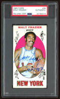 "Walt Frazier Signed 1969-70 Topps #98 RC Inscribed ""HOF 1987"" (PSA Encapsulated) at PristineAuction.com"