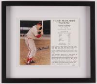 Stan Musial Signed Cardinals 13x16 Custom Framed Career Highlight Stat Card Display (JSA COA) at PristineAuction.com