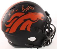 "Drew Lock Signed Broncos Full-Size Eclipse Alternate Speed Helmet Inscribed ""I Put On"" (JSA COA) at PristineAuction.com"