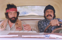 "Cheech Marin & Tommy Chong Signed ""Cheech & Chong's Next Movie"" 12x18 Photo Inscribed ""19"" (Beckett COA) at PristineAuction.com"