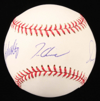 Greg Maddux, John Smoltz & Tom Glavine Signed OML Baseball (JSA COA) at PristineAuction.com