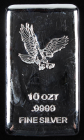 10 Troy Oz .999 Fine Silver Bullion Bar at PristineAuction.com